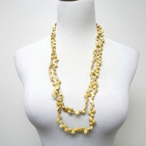 JULIE coco shells 2-tier long strand necklace